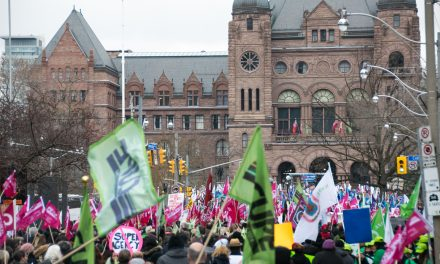 More than 10,000 protest to tell Ford Government to stop health privatization, cuts