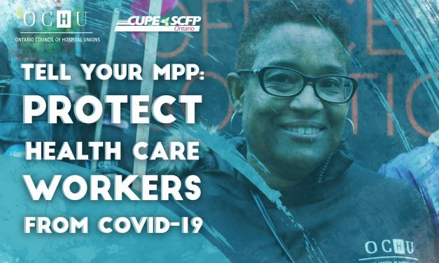 Tell your MPP you demand health care workers are protected during COVID-19