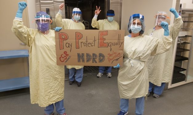 Hospital staff protest today as morale crisis over pandemic pay deeply divides workforce