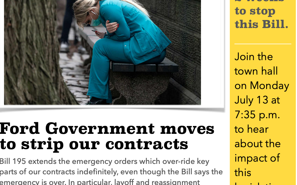 Ford Government moves to strip our contracts