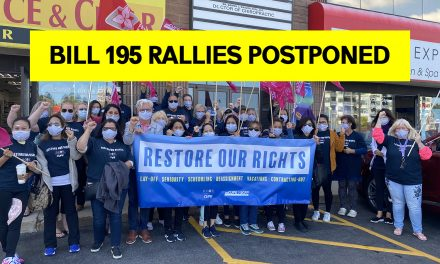 Bill 195 Rallies Postponed