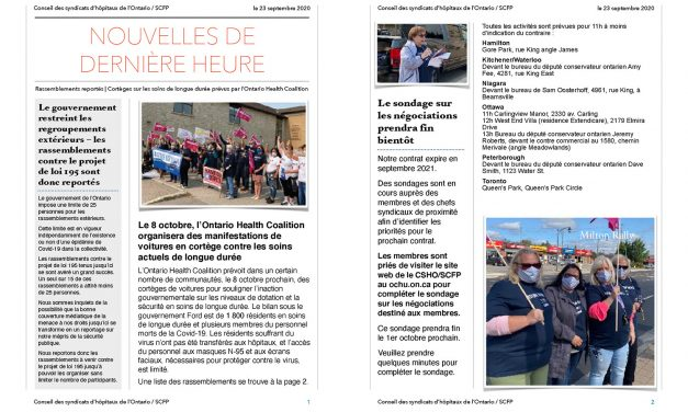 Bulletin – 23 septembre
