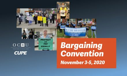 OCHU Bargaining Convention – November 3-5, 2020