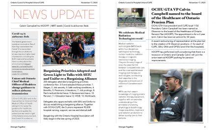 Newsletter – November 17