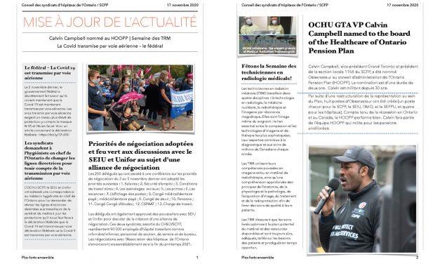 Bulletin – 17 novembre