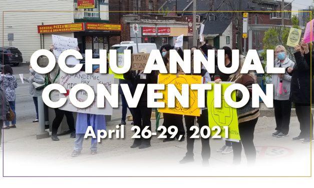 OCHU Annual Convention 2021