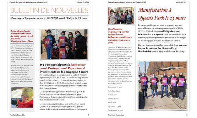 Bulletin – 15 mars