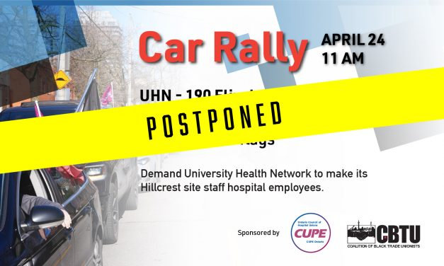 POSTPONED: Car rally – University Health Network, Toronto