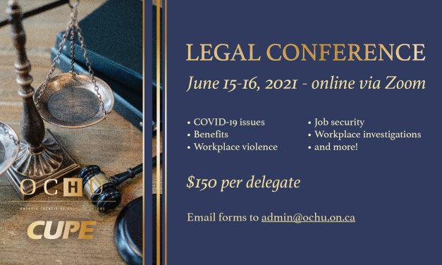 OCHU Legal Conference – June 15-16