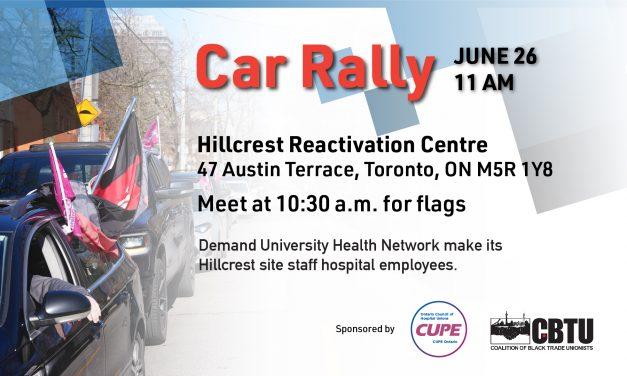 Car rally – June 26