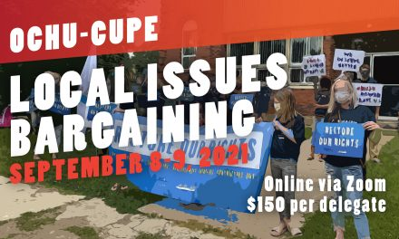Local Issues Bargaining Conference – September 8-9, 2021